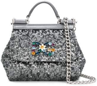 Dolce & Gabbana sequinned mini Sicily bag