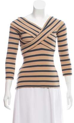 L'Agence Striped Long Sleeve Top