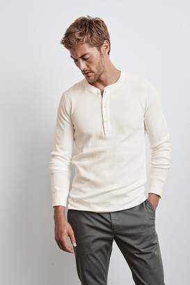 Velvet by Graham & Spencer HANSON LONG SLEEVE THERMAL KNIT HENLEY