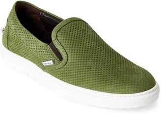 Jimmy Choo Green Grove Embossed Slip-On Sneakers