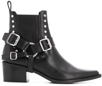 Diesel Black Gold Western ankle boots