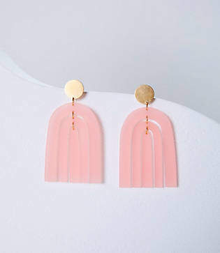Lou & Grey Happy in Finland Frosted Pink Rainbow Earrings