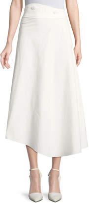 Awake High-Waist Cotton Poplin A-Line Skirt
