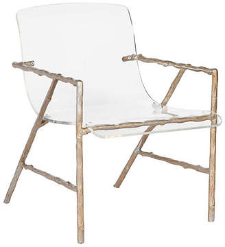 One Kings Lane Sullivan Acrylic Chair - Gold