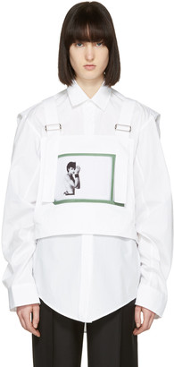 Raf Simons White Robert Mapplethorpe Edition Self Portrait Dungaree Top $705 thestylecure.com