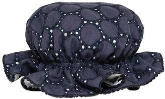 La Stupenderia Reversible Cotton Eyelet & Gauze Hat
