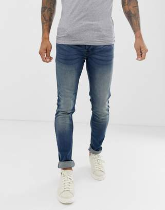 French Connection Blue Super Skinny Stretch Jeans