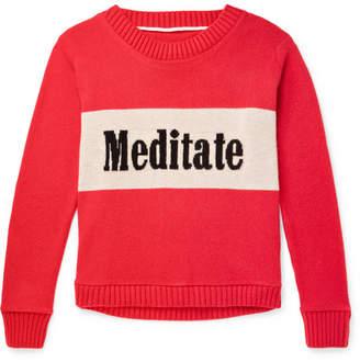 The Elder Statesman Meditate Intarsia Cashmere Sweater