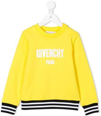 Givenchy Kids stripe trim logo sweatshirt