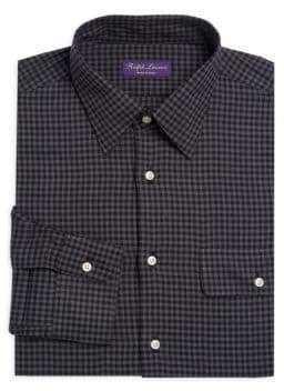 Ralph Lauren Purple Label Gingham Plaid Dress Shirt