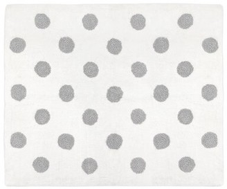 JoJo Designs Sweet Watercolor Floral Hand-Tufted Cotton White/Gray Area Rug Sweet