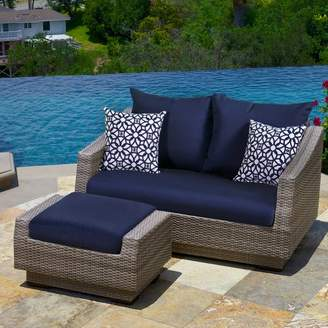Wade Logan Castelli Loveseat and Ottoman with Cushions