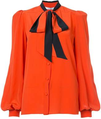 Givenchy Tie Neck Button Down Blouse