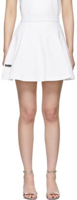 Prada White Triangle Logo Miniskirt