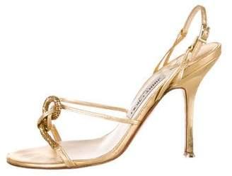 Jimmy Choo Embellished Slingback Sandals