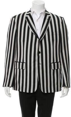 Thom Browne Striped Three-Button Blazer