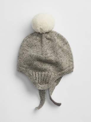 Gap Marled Pom Trapper Hat