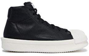 be341f401fbe Rick Owens X Adidas Mastodon Textured-leather Platform High-top Sneakers
