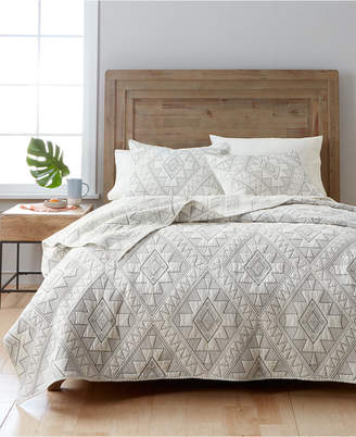 Martha Stewart Collection Canyonlands 100% Cotton Embroidered Twin Quilt, Created for Macy's