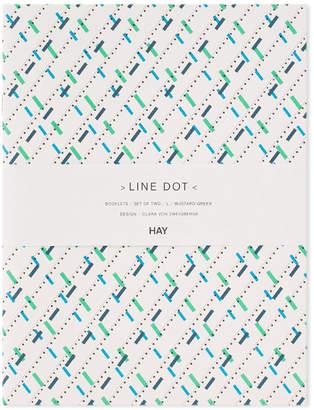 Line & Dot Hay HAY Large Line Dot Notebook - 2 Pack