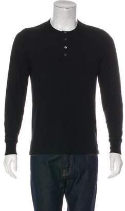 Tom Ford Long Sleeve Henley T-Shirt
