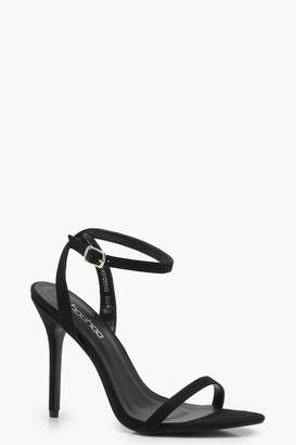 boohoo Megan Pointed Toe Barely There Heels