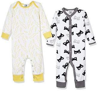 Silly Apples (002) Baby Unisex Cotton Blend 2-Pack Long-Sleeve Romper Onesies (NB)