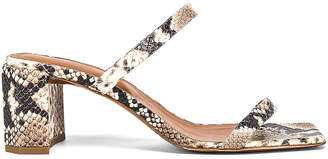 BY FAR Tanya Sandal in Snake Print Leather | FWRD