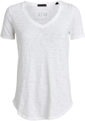 ATM Anthony Thomas Melillo Slub Cotton V-Neck T-Shirt