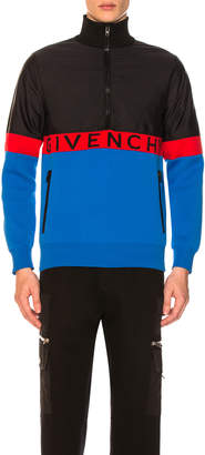 Givenchy Half-Zip Colorblock Jacket