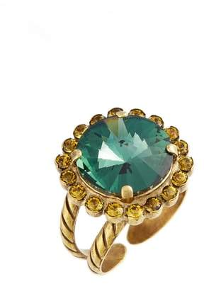 Sorrelli Haute Halo Crystal Cocktail Ring