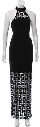 Nicholas Eyelet Cutout Maxi Dress
