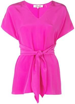 Diane von Furstenberg Lizzie silk waist tie top