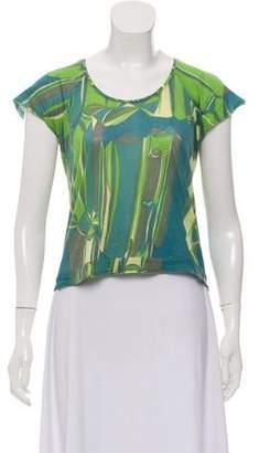 Marni Abstract-Printed Short Sleeve Top