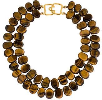 Alexis BittarAlexis Bittar Tiger's Eye Quartz Double Strand Necklace