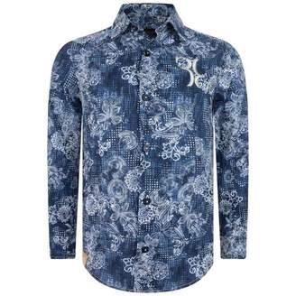 Billionaire BillionaireBoys Blue Patterned Sigismond Shirt