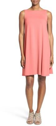 Women's Eileen Fisher Lightweight Jersey Shift Dress $178 thestylecure.com