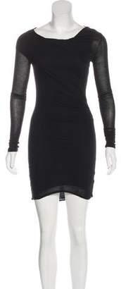 Helmut Lang Long Sleeve Draped Dress