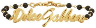 Dolce & Gabbana Gold Ball Logo Bracelet