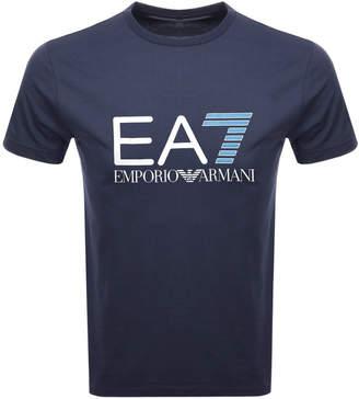 Emporio Armani EA7 Crew Neck Logo T Shirt Navy