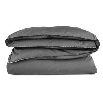 Scout   Modern Smog Italian Stonewash Percale Bed Linen