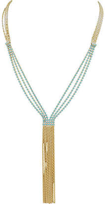 One Kings Lane Vintage Deep V-Style Fringe Necklace