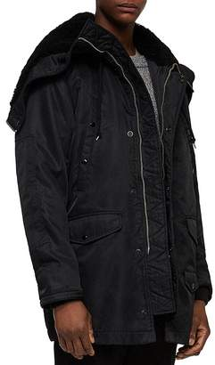 AllSaints Garth Parka with Shearling-Lined Hood