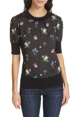 Ted Baker Addylyn Oracle Mixed Media Top