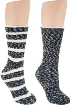Cuddl Duds Chenille Cabin Socks Set of 2
