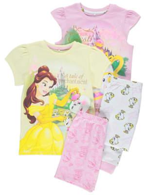 Disney George Princess Beauty and the Beast Pyjamas 2 Pack