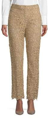 Valentino Floral Lace Pants