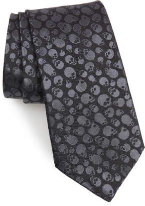 John Varvatos Skull Silk Tie