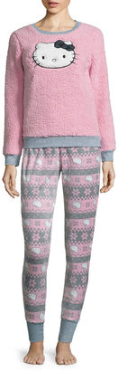 Hello Kitty Sherpa Pant Pajama Set-Juniors $18.89 thestylecure.com