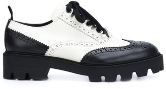 Mulberry monochrome lace-up brogues $795 thestylecure.com